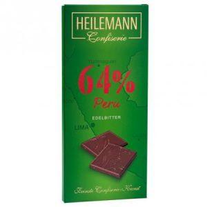 heilemann plantážní hořká čokoláda 64 peru