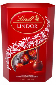 lindt lindor milk mléčné pralinky 50g