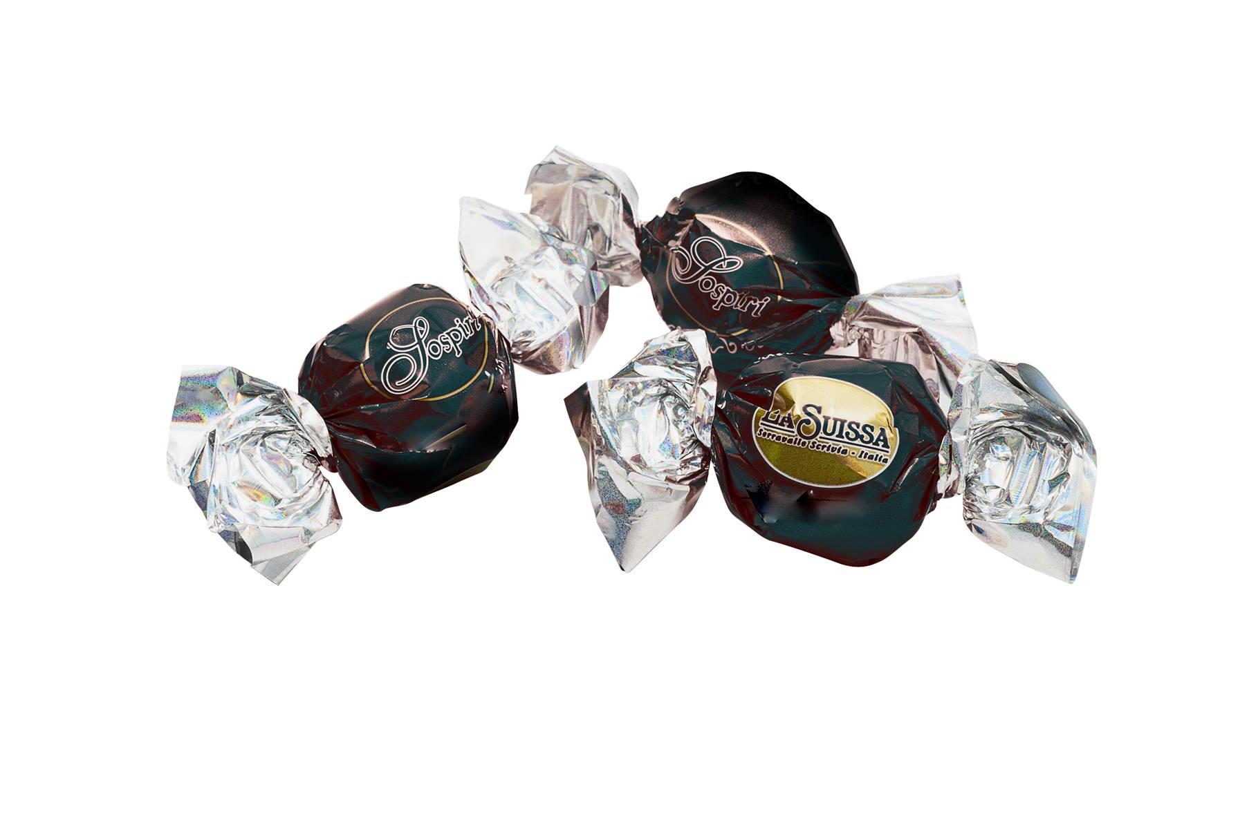 Hořká čokoládová pralinka