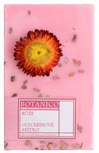 botanico glycerínové mýdlo s dekorací růže