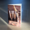Komplimentka přání gratuluji šampaňské