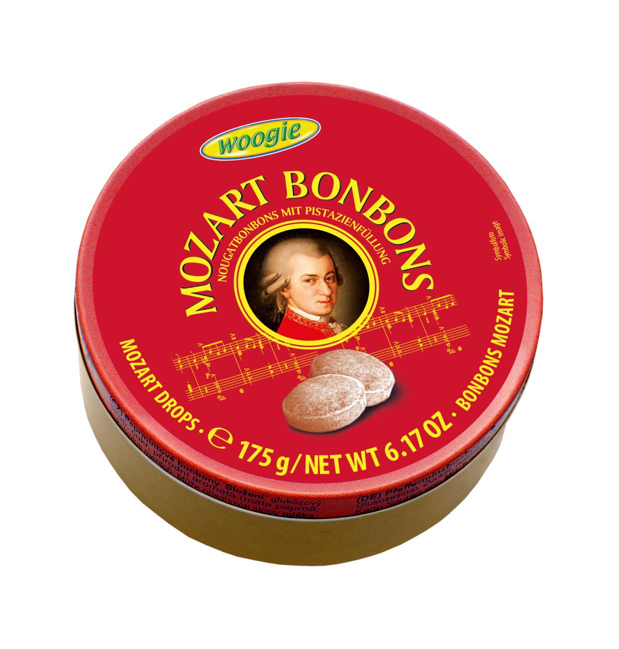Mozart tvrdé bonbony v dárkové plechové krabičce 175g
