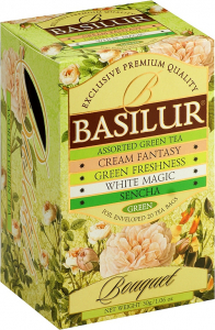basilur assorted green teas green bouquet 20 sáčků