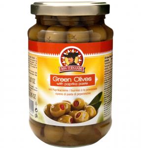 don fernando zelené olivy bez pecky s paprikovou pikantní pastou