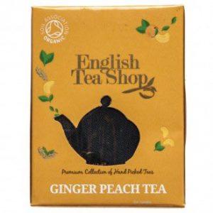 ets english tea shop ginger peach tea bio čaj zázvor broskev pyramidka