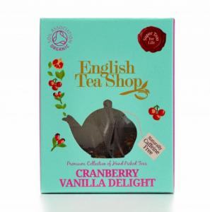 ets english tea shop cranberry vanilla delight bio čaj v pyramidce brusinka vanilka