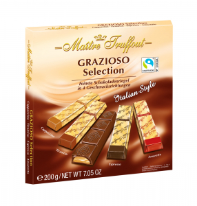 maitre truffout grazioso selection italian style chocolate bars