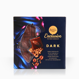laima exclusive dark caramel coffee crisps