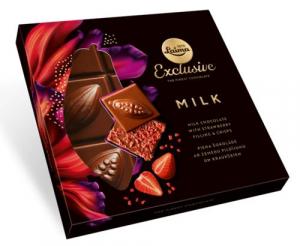 laima exclusive mléčná čokoláda s jahodami