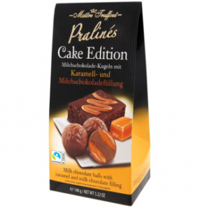 maitre truffout cake edition mléčné pralinky s karamelem čokoládové