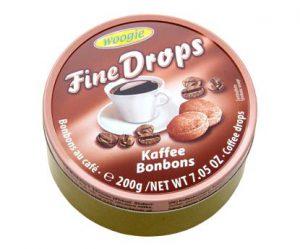 woogie tvrdé kávové bonbony fine drops